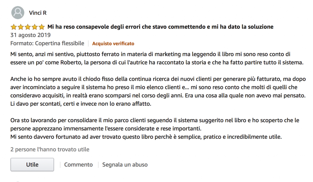 Sistema Cliente - Recensione Amazon
